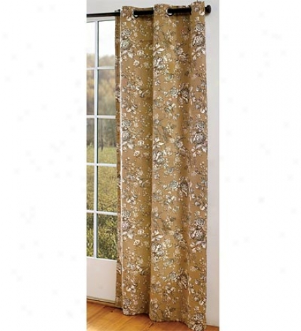 "84""l Grommet-top Thermalogic Insulated Curtains In Vintage Floral"