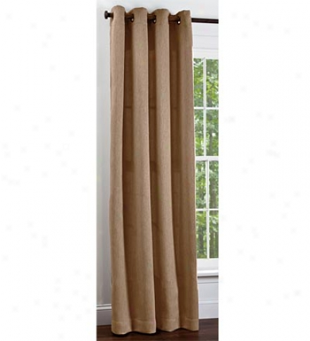 "84""l Textured Polyester Grommet-top Curtains"