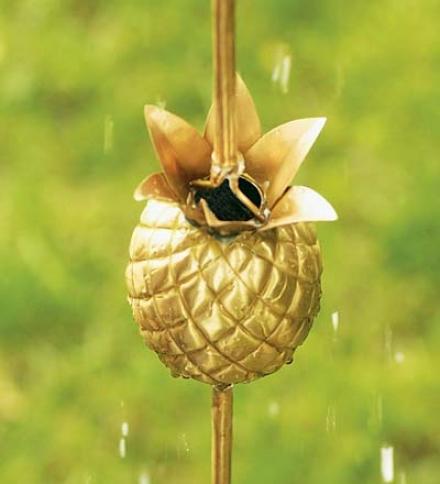 9-1/2' Pineapple Brass Rain Chain