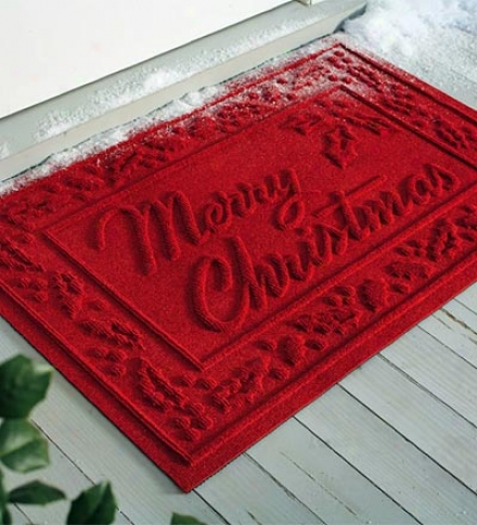 Absorbent Waterhog??? Snowflake Or Merry Christmas Door Mat