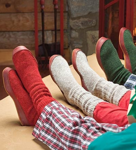 Aconr® Cotton Slipper Socka With Suede Outsole In favor of Children