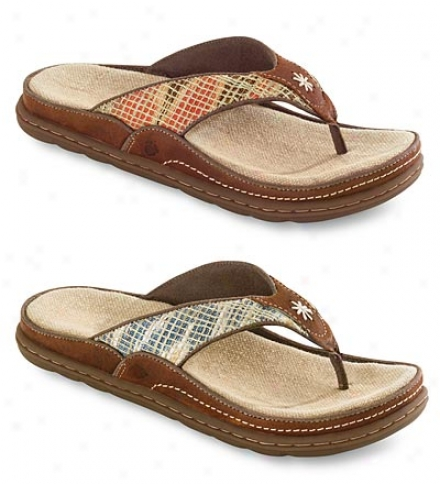Acorn® Hadley Thongs With Natural Cotton Uppers