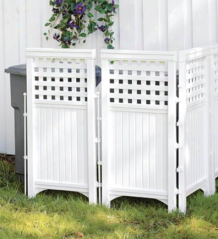 Adjustable Outdoor White Resin Four-panel Screen
