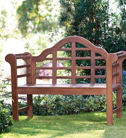 All-weather Solis Wood Lutyens Garden Bench