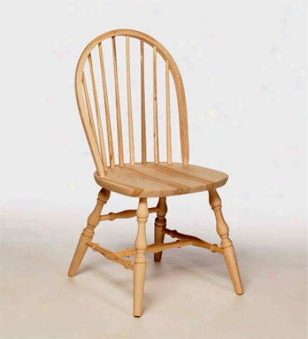 American-made Bowback Spindle Back Beech Wood Chair