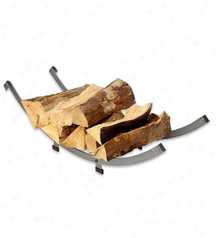 American-made Hammered Steel Arch Basket Log Rack