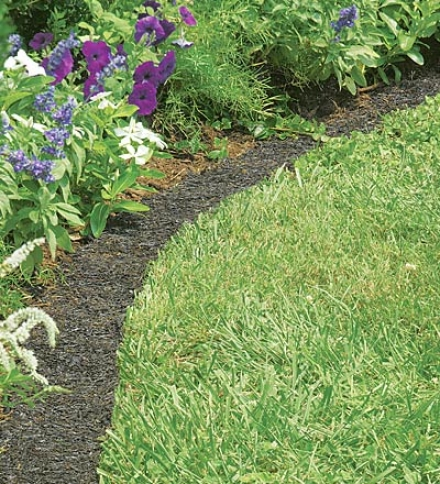 Amercian-made Perma Mulch Recycled Rubber Border4-1/2&quoy;w X 8'lbuy 2 Or More At $19.95