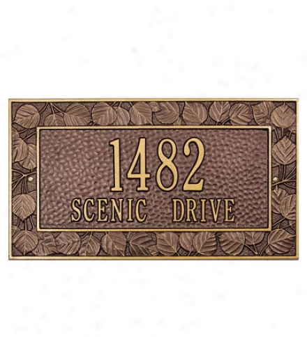 American-made Personalized Aspen Address Plaque In Cast Alyminum