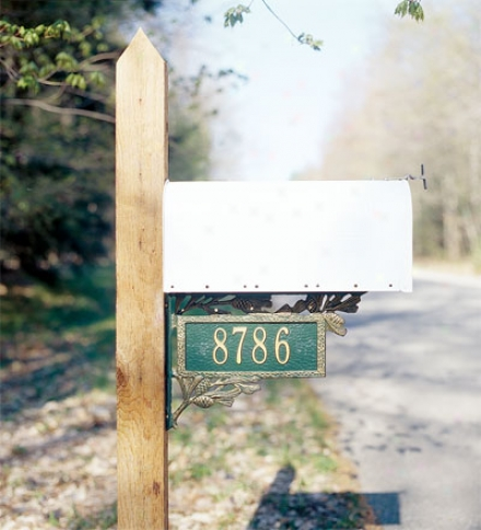 American-msde Personalized Pine Cone 2-sided Mailbox Address MarkerI n Cast Aluminum