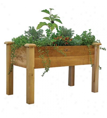 American-made Rustic Elevated Garden Bed