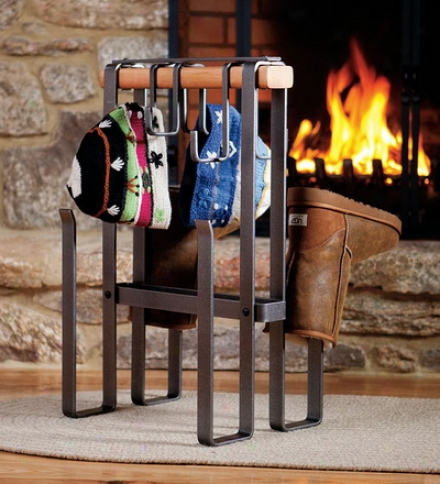 American-made Steel And Cedar Hearth Drying Rack