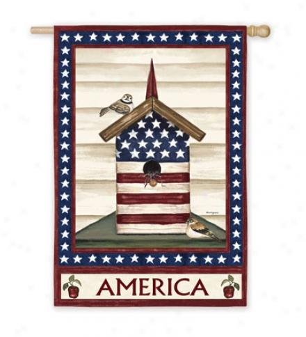 Americana Birdhouse Gadren Flag