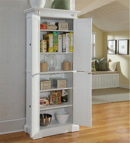 Americana Kitchen Pantry With Recessed Doors