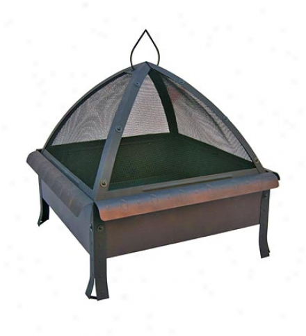 Arched Steel Tudor Fire Pit With Defensive Cover