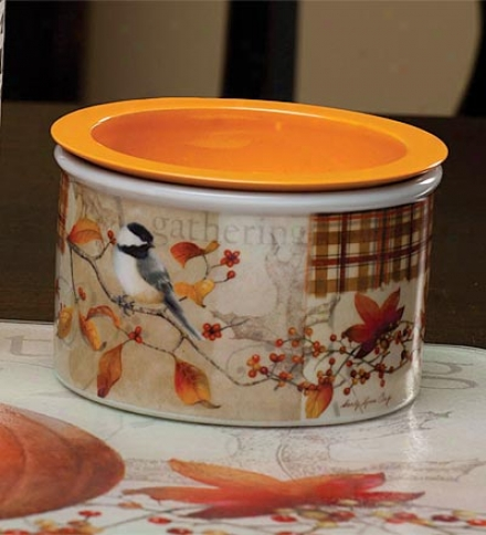 Autumn Inspirations 2-piece Ceramic Dip Chiller