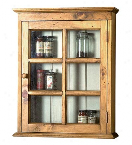 Backless Wall Cabinet With Glass