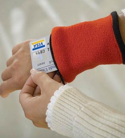 Banjees™ Polyester Fleece Wrist Wwllet With Zipper