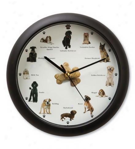 Barking Dogs Wall/desk Clock With Light Sensor