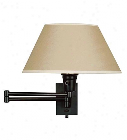 Basic Space-saving Swing-arm Wall-mounted Reading Lamp