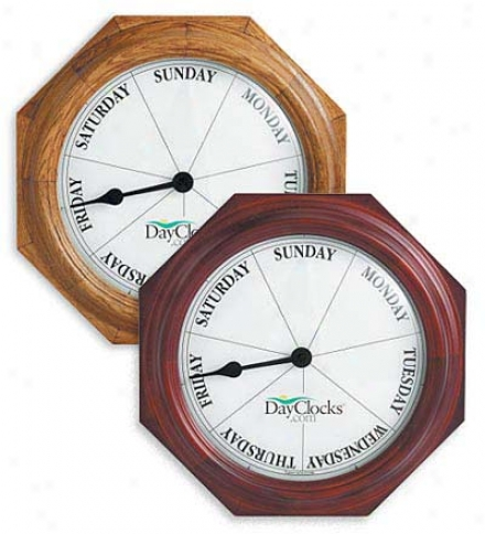 Battery-powered Wooden Wall Hanging Day Clock???
