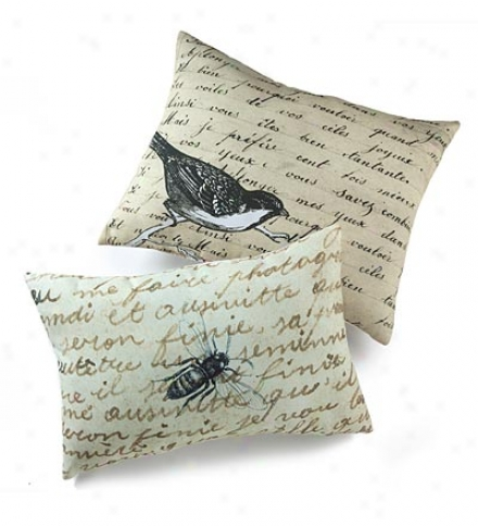 Birds And Bees Photo-printed Throw Pillows