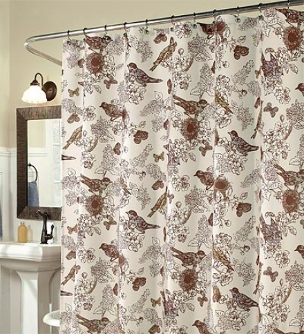 Birds Of Paradise Duck-weave Shower Curtain