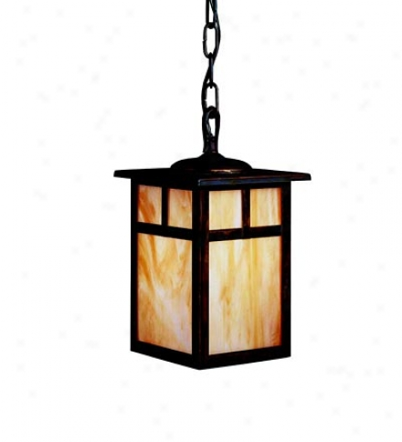 Brass Outdoor Pendant Light In Canyon View Finish