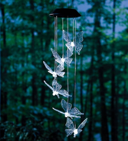 Butterfly Solar Mobile With Bright Leds