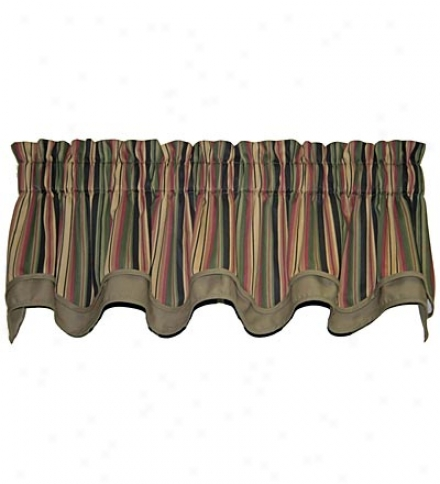 Candy Stripe Valance With Matching Trim