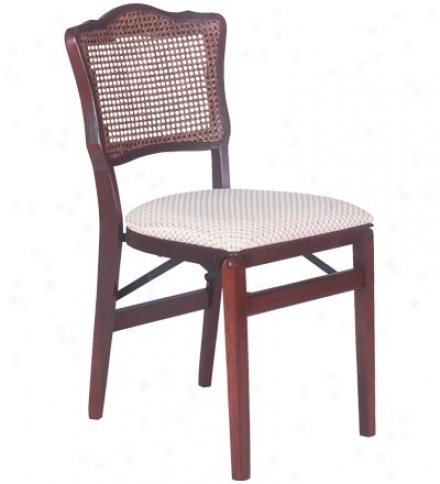 Cane Back Folding Chair, Set Of 2