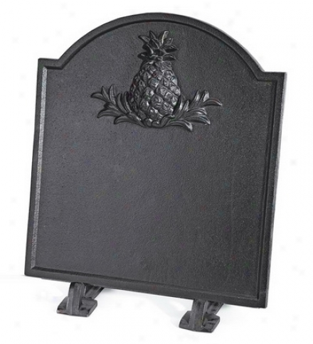 Cast Iron Pineapple Fireplace Fireback