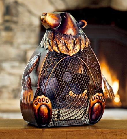 Charming Bear Two-speed Table Fan-figurine