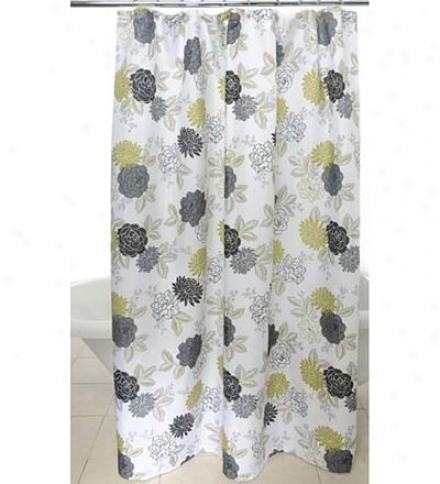 Cheri Floral Polyseter Shower Curtain