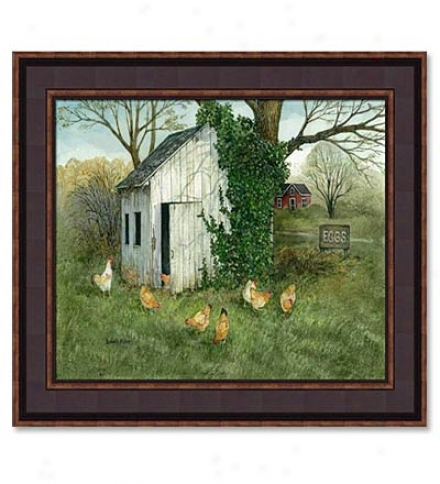 Chicken Shed Print By Bonnie Fisher