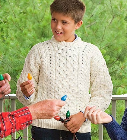 Child's Wool Irish Fisgermen's Crewneck Sweater