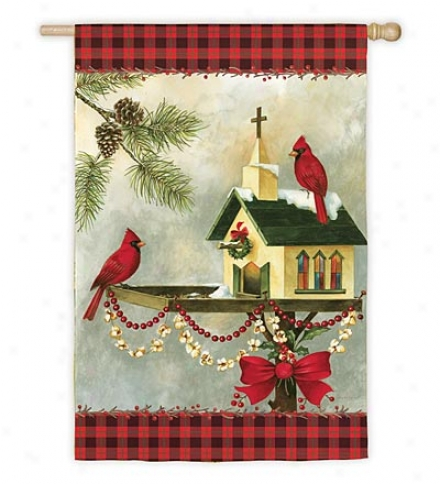Christmas In The Garden Nylon Garden Flag