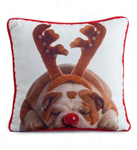 Christmas Lava Dog Photo-lrinted Pillows