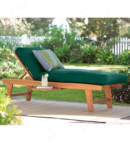 Classic Weather-resistant Eucalyptus Chaise Lounge