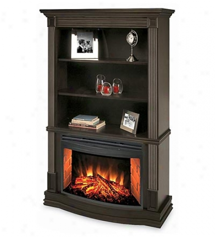 Clifton Bookcase Electric Fireplace
