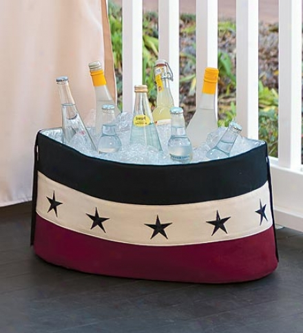 Collapsible Soft-sided Americana Drink Tub Cooler