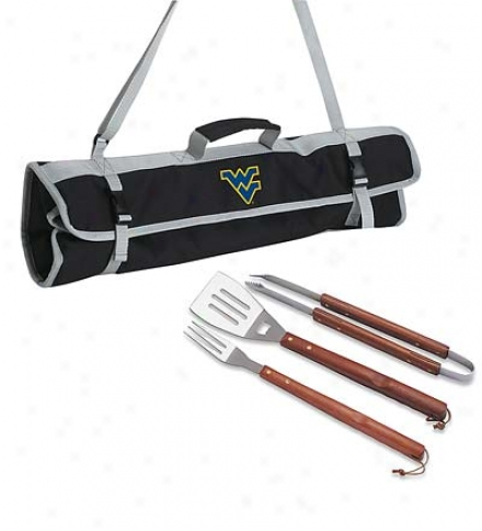 Collegiate 3 Part Bbq Tools & Tote