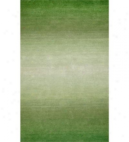 Colorful Handmade 5' X 8' Wool Ombre Rug