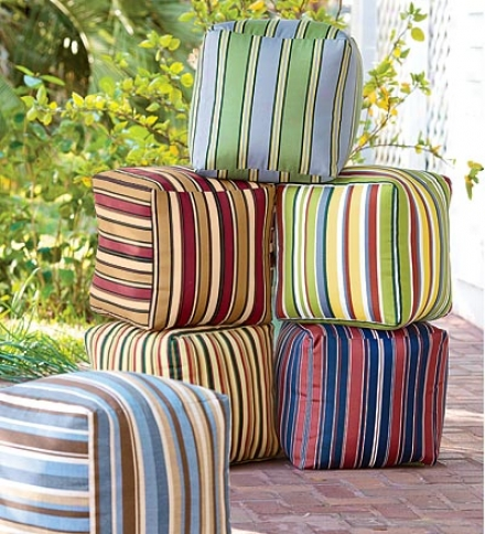 Colorful Outdoor Ottoman Cubes In the opinion of Eco-friendly Recycled Polyfillbuy 2 Or More At $47.95 Each