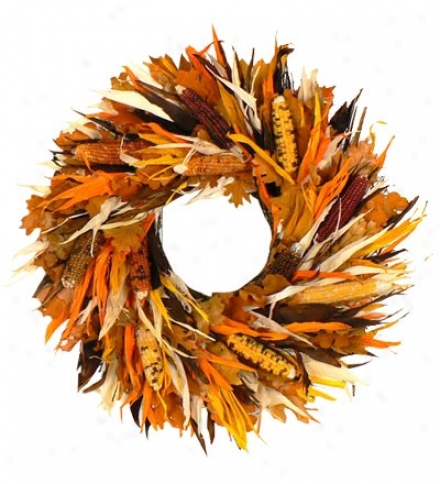 "Corn Husk Wreath, 16"" Dia."