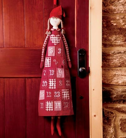 Cotton Advent Calendar Doll