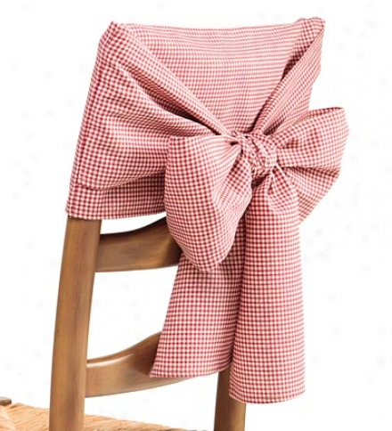 Cotton Gingham Check Or Solid Chair Bowbuy 2 Or More At $19.95 Each