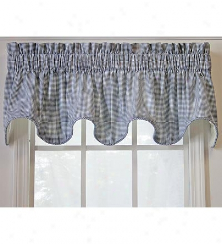 Country Cottage Scalloped Valance