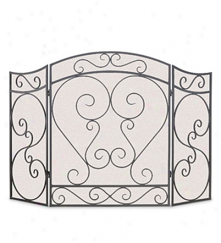 Country Scroll Hearth Screen