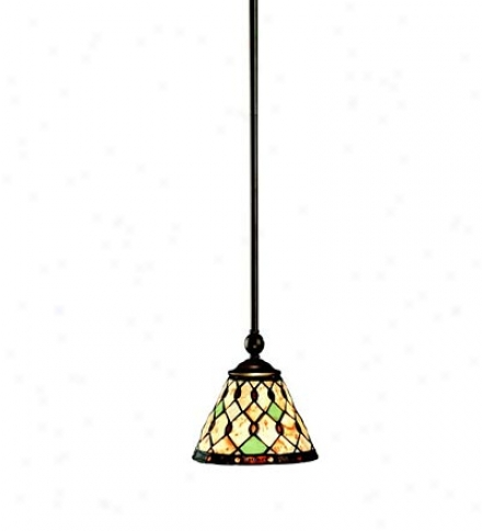 Cream And Unripe Mini Pendant Light With Metal Framed Shade