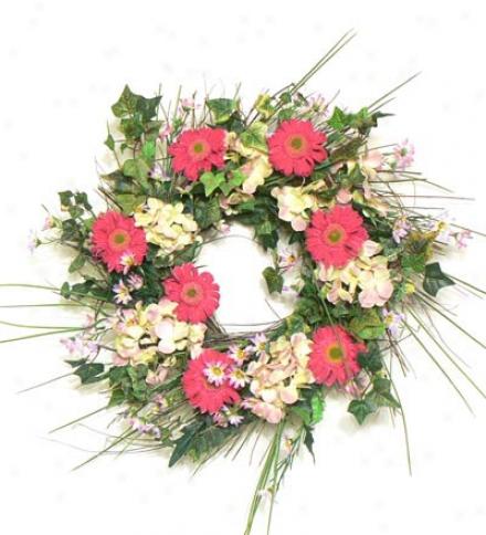 Daisy Hydrangea Wreath